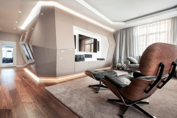 Dominion A Futuristic Moscow Apartment With Custom