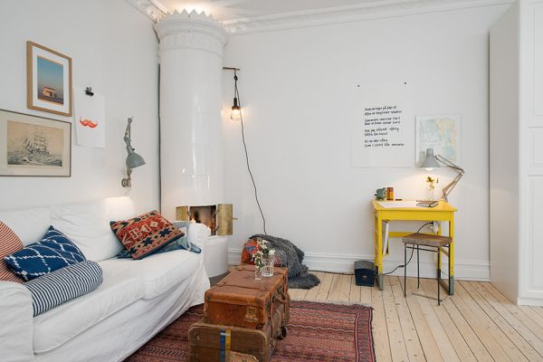 Living Room And Bedroom In One 10 Small One Room Apartments Featuring A Scandinavian Décor