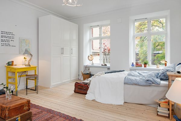 10 small one room apartments featuring a scandinavian d cor - How to decorate a single room ...