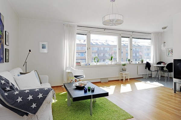 10 small one room apartments featuring a scandinavian d cor for Small one room apartment ideas