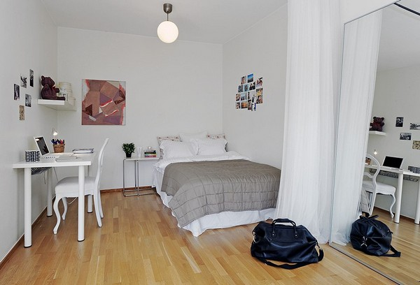 All In One Room 10 small one room apartments featuring a scandinavian décor
