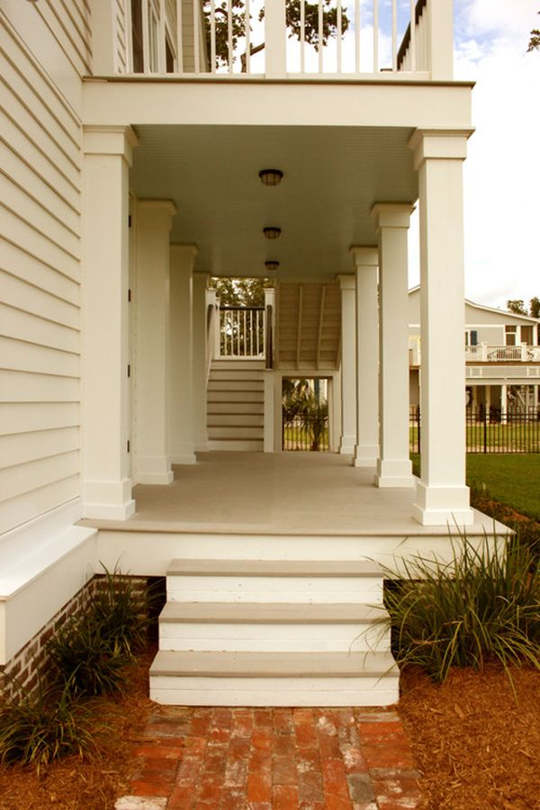columns inside and outside the house