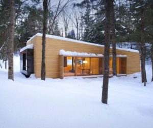 The cozy La Luge cabin – a contemporary holiday attraction in Quebec