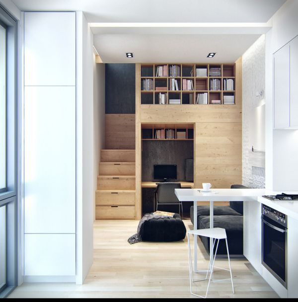 very small apartment.  Small Apartments Are The Homes Of Future