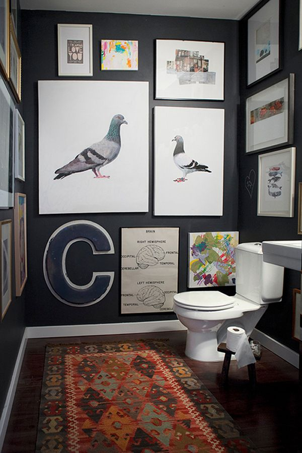Small Bathrooms Dark Walls don't be afraid incorporating dark walls into your home décor