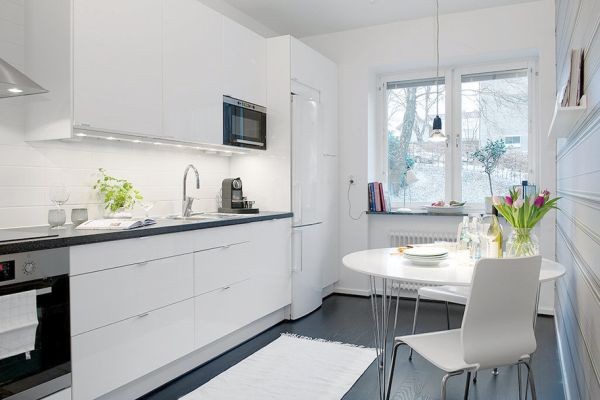 48 Small One Room Apartments Featuring A Scandinavian Décor Mesmerizing Kitchen Apartment Design