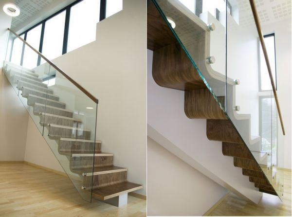 Trend On The Rise Wood And Metal Wall Gallery: The 25 Most Creative And Modern Staircase Designs