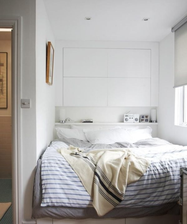 Marvelous Shelf Headboard Ideas Part - 10: Headboard Storage U2013 A Simple And Smart Space-Saving Idea