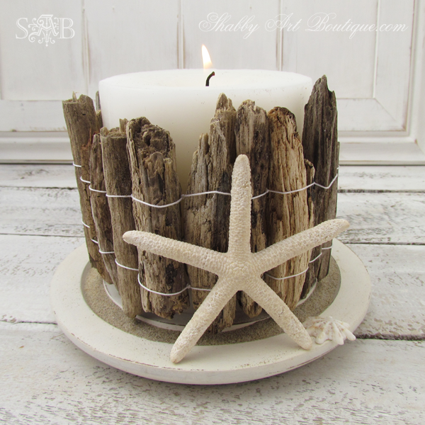 A Driftwood Candle Holder