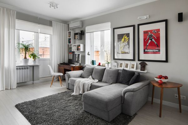 Bachelor Pad Featuring A Modern Décor With Accent Details From The