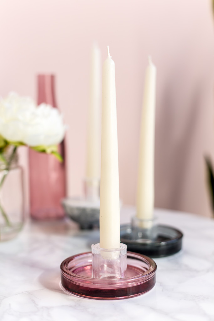 DIY Minimalist Perspex Candle Holders