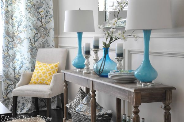 how to decorate a console table top  seeing the forest through the trees