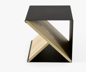 Minimalism And Functionality In A Unique Piece Of Furniture: Noon Studio's Steel Stool