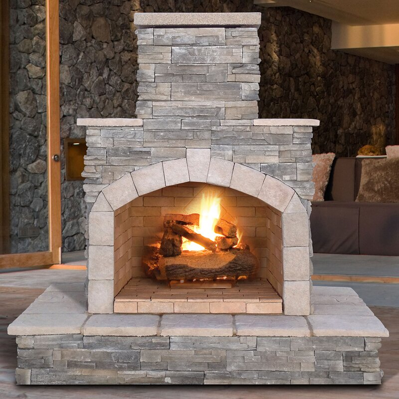 34 Beautiful Stone Fireplaces That Rock - Bring The Rusticity on Quillen Steel Wood Burning Outdoor Fireplace id=77320