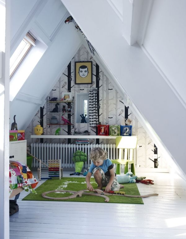 ideas for small attic space - Turn The Attic Into A Perfect Play Area For The Kids 25