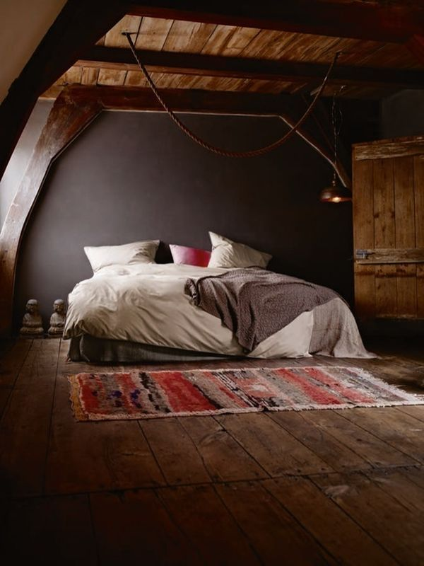 attic bedroom decorating pictures - Dark & Moody Walls for a Cozy Bedroom