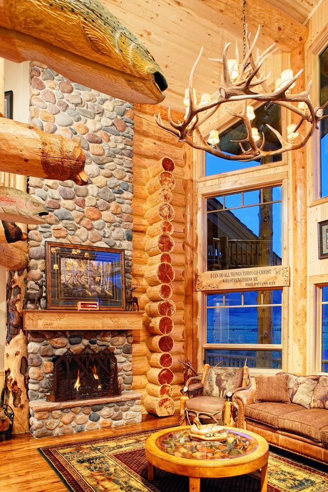 Log Home Fireplaces.