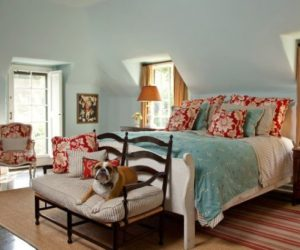 Powder Blue and Poppy Red Rooms: Ideas and Inspiration