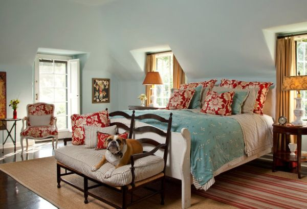 Ultra modern bedroom interiors - Powder Blue And Poppy Red Rooms Ideas And Inspiration