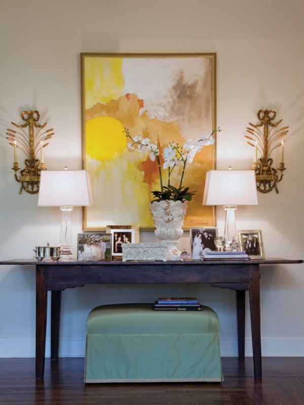 How to Decorate a Console Table Top: Seeing the Forest through the Trees