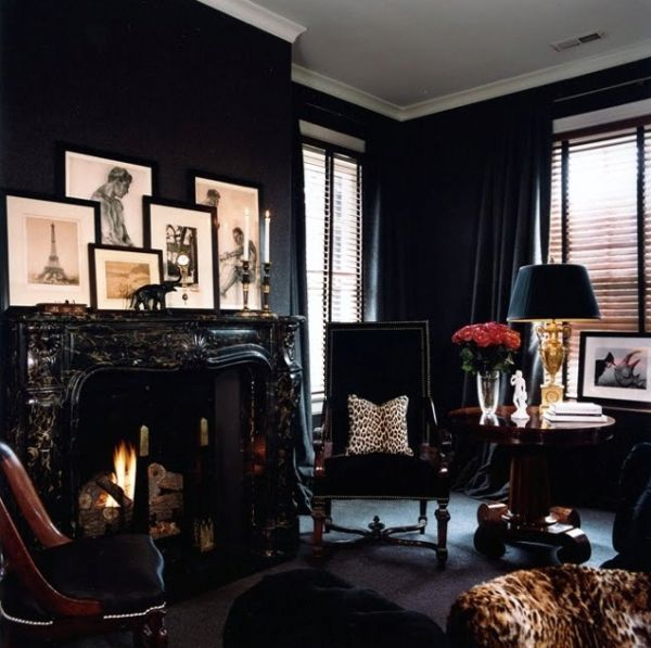 Dipped in Midnight: Monochromatic Rooms