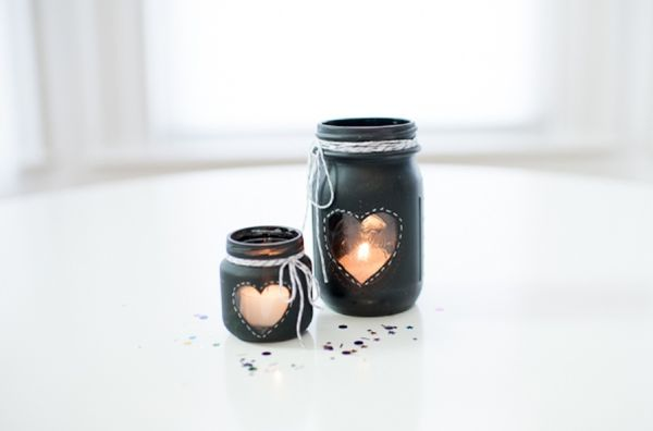 Get crafty and make some unique candle holders 50 ideas for Diy candle jar decorations