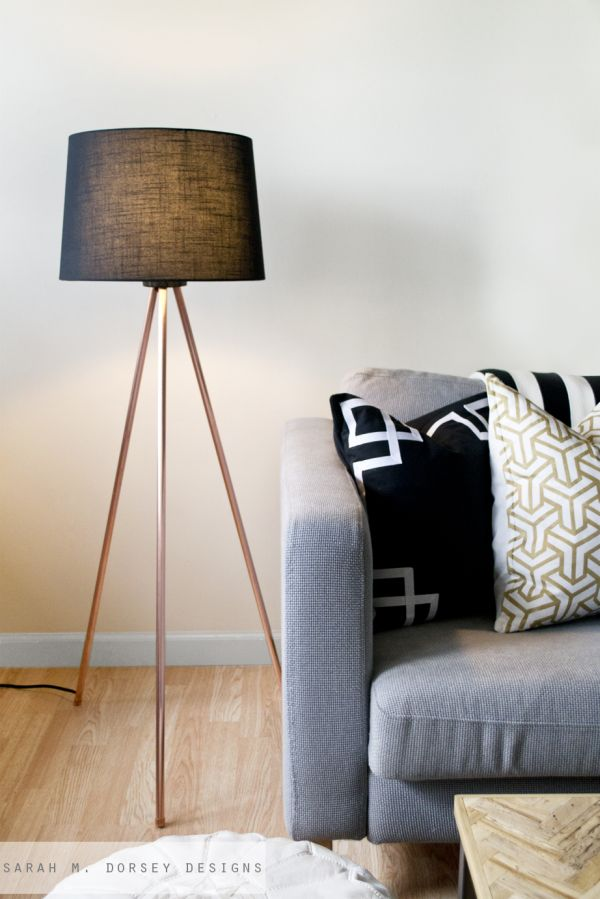 Diy floor lamps 15 simple ideas that will brighten your home tripod lamps aloadofball Image collections