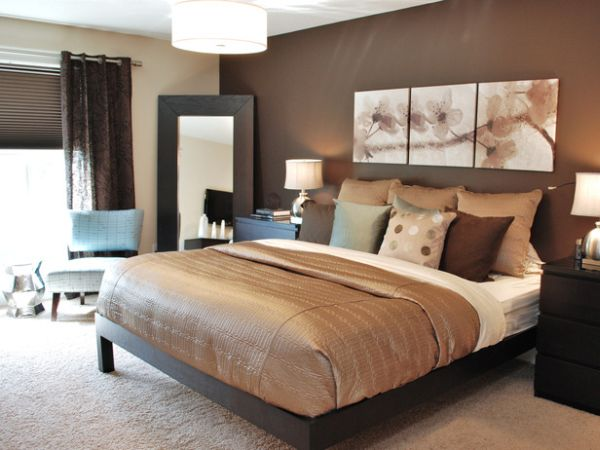 Dipped in chocolate monochromatic rooms for Monochromatic bedroom designs