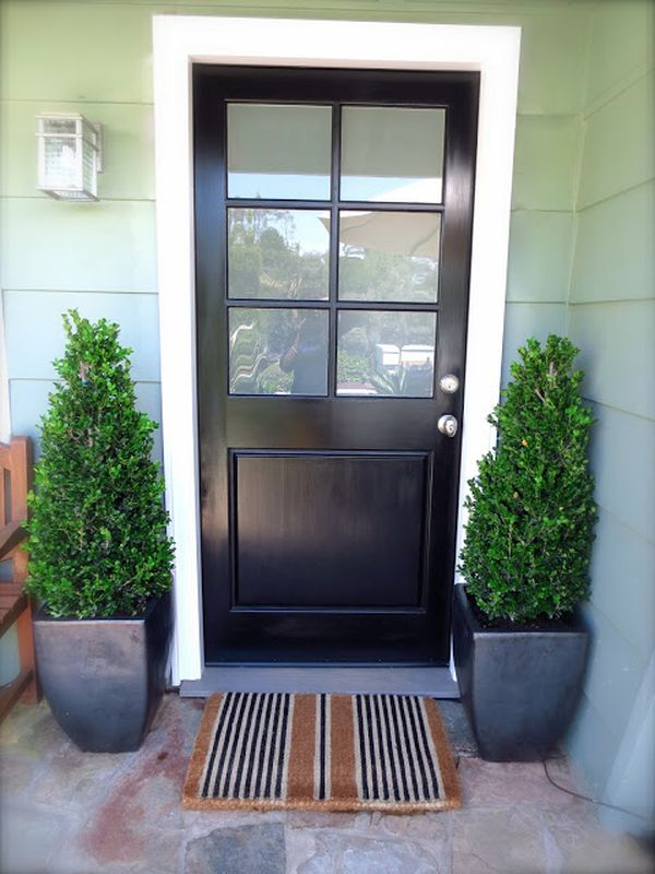 Stylish black front doors change your house 39 s curb appeal for Back entry doors for houses