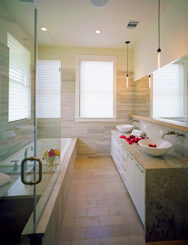 20 spa like bathrooms to clean your mind body and spirit for Photos of contemporary bathrooms