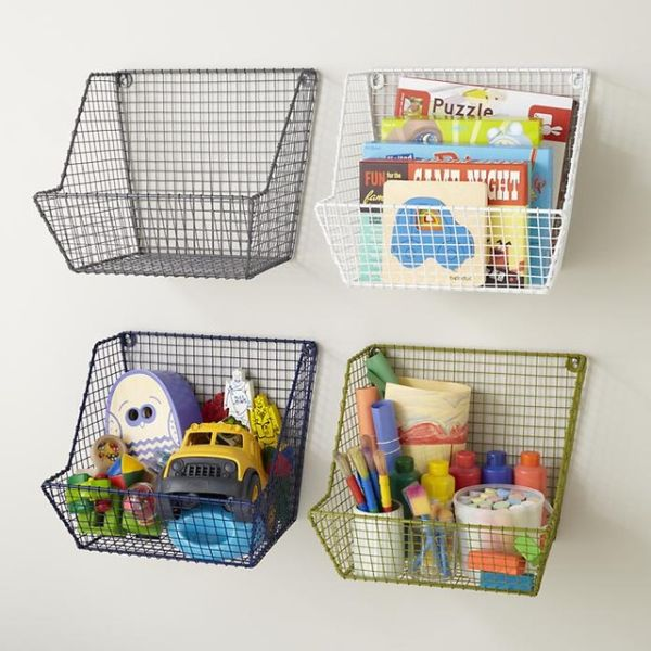 1. Wall Baskets. & Easy Childrenu0027s DIY Storage Ideas