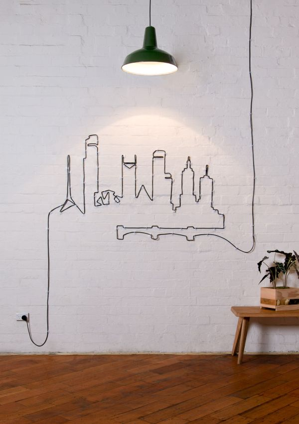 Delightful Why Hide Your Cables And Cords When You Can Turn Them Into Beautiful Wall  Artu2026
