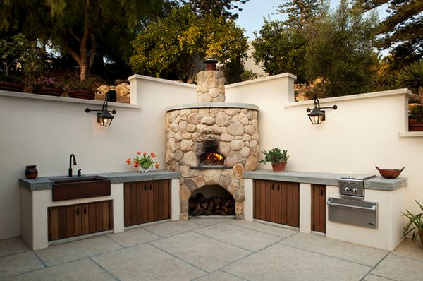 View in gallery. Pizza ovens usually fit best in the corner so you can  design your outdoor kitchen ...