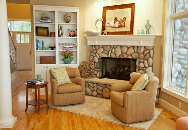 Beautiful Stone Fireplaces That Rock - Stone corner fireplace pictures