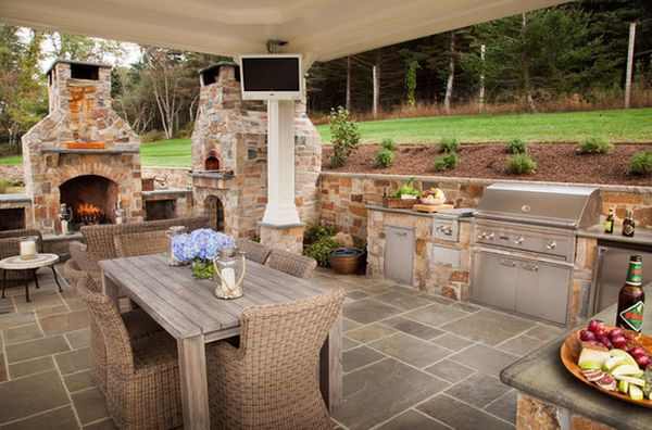 Outdoor Kitchen Designs Featuring Pizza Ovens Fireplaces And