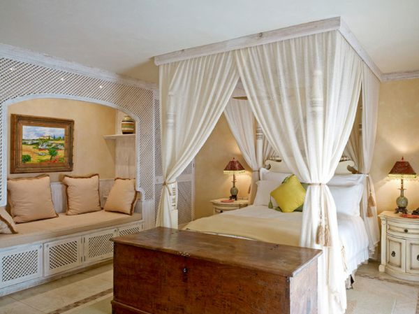 View in gallery An interesting canopy ... & Canopy Beds Are Back Creating A Bedroom Feel More Relaxing ...