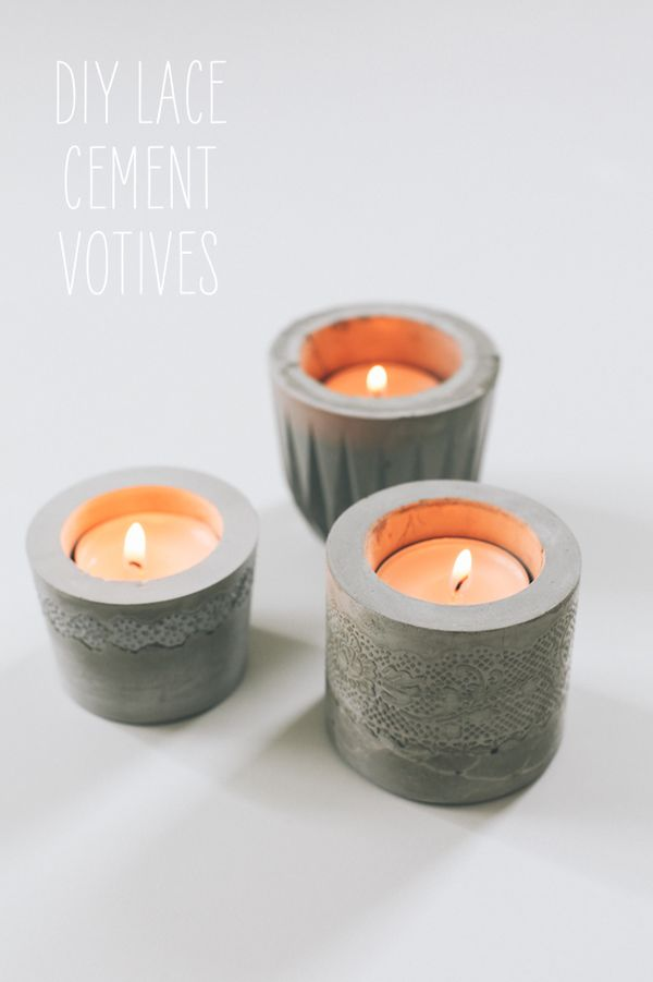 concrete candle holders - Diy Candle Holders