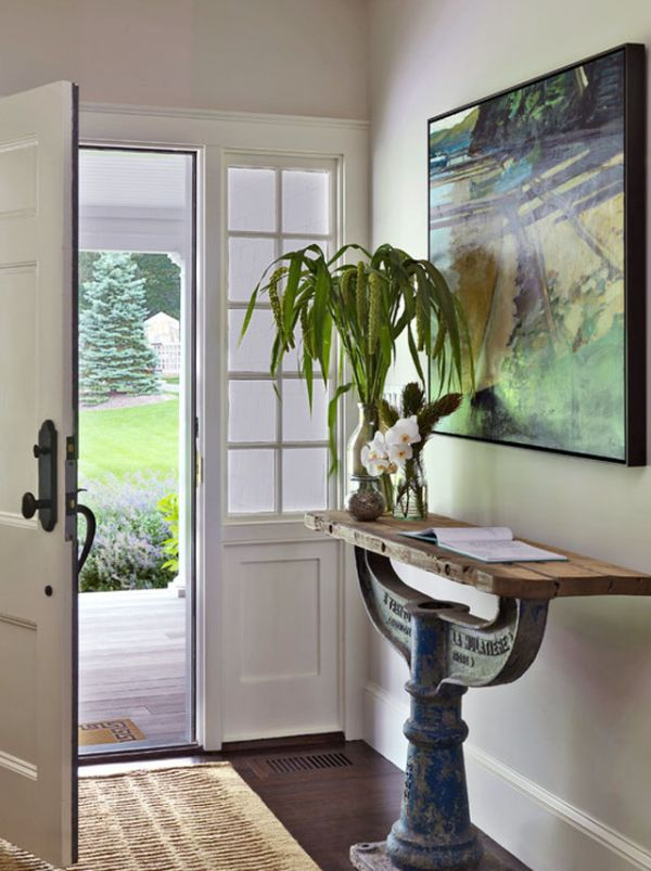 Decorating A Console Table In Entryway.How To Decorate A Console Table Top Seeing The Forest