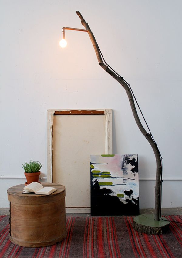 Diy floor lamps 15 simple ideas that will brighten your home branch solutioingenieria Images