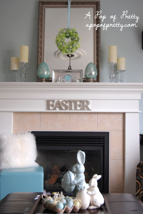 Make it fresh 15 mantel decorating ideas for spring for Mantel decorating tips