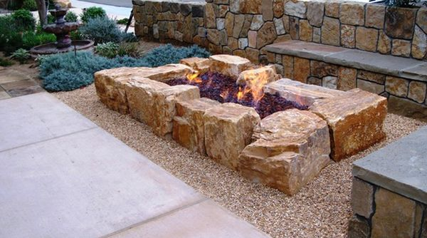 Rock garden design ideas to create a natural and organic for What rocks to use for fire pit