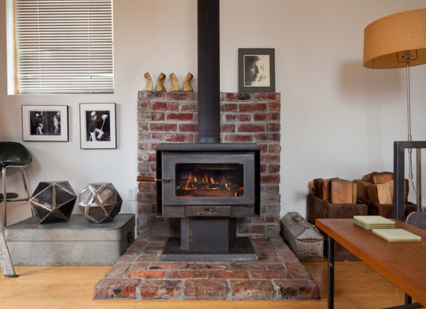 view in gallery - Wood Stove Design Ideas