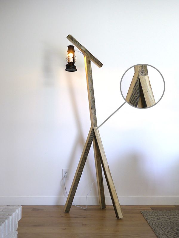 Diy floor lamps 15 simple ideas that will brighten your home view in gallery to make a rustic floor lamp you can solutioingenieria Image collections