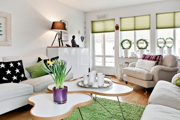 35 light and stylish scandinavian living room designs for Table sejour scandinave