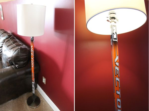 Hockey Stick Floor Lamp.