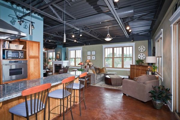 Captivating ... View In Gallery This Industrial Open ...