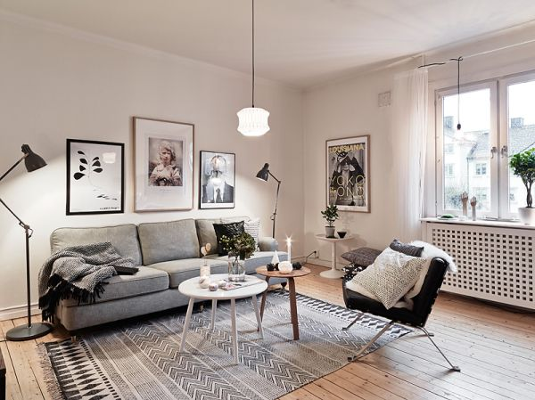 35 light and stylish scandinavian living room designs - Idee schilderij living ...