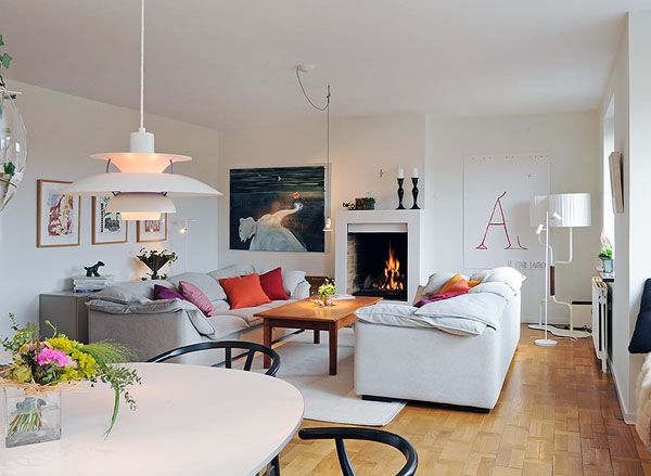 35 light and stylish scandinavian living room designs for Minimalist decorating small spaces