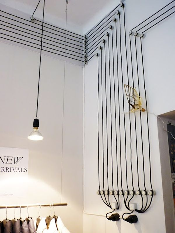 Designer Wall Decor why hide your cables and cords when you can turn them into