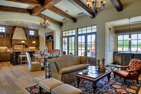 Stylish ceiling designs that can change the look of your home - Living room ceiling beams ...
